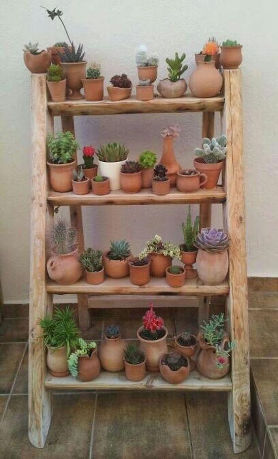 Estantes para macetas plantas