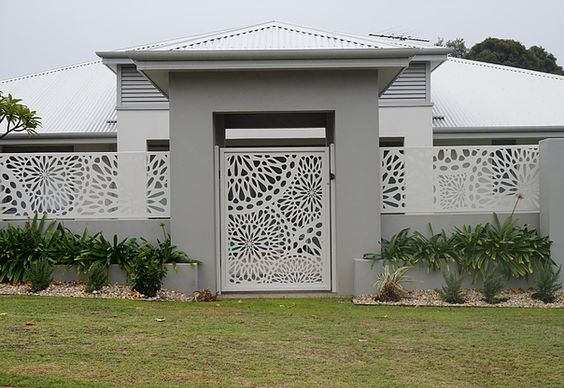 fachada con bardas modernas 2 decoracion de interiores