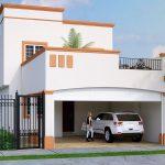 fachada para casa infonavit 2 plantas