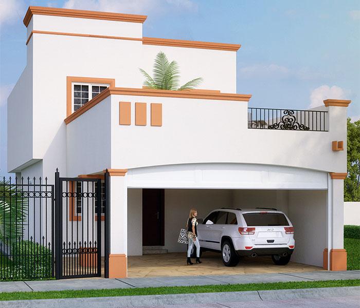Fachada para casa infonavit 2 plantas decoracion de for Fachadas de casas para segunda planta