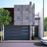 fachadas de bardas modernas con revestimiento 2