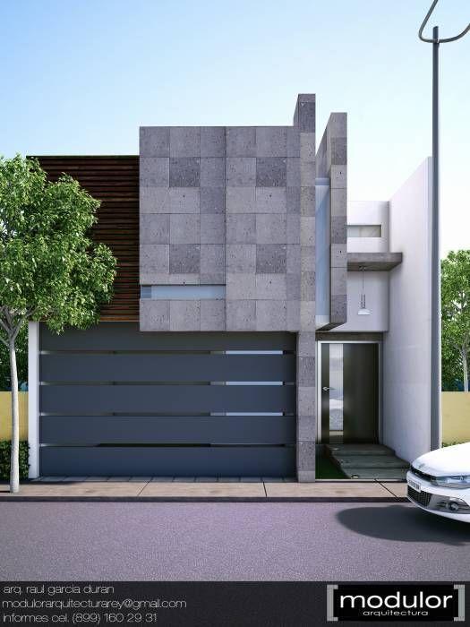 Fachadas de bardas modernas con revestimiento 2 decoracion de interiores fachadas para casas - Colores de fachadas modernas ...