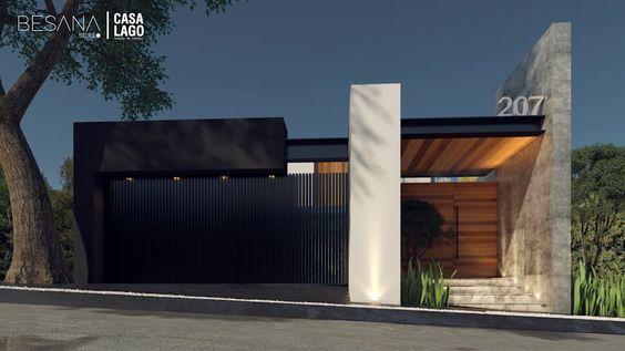 fachadas de bardas modernas con revestimiento