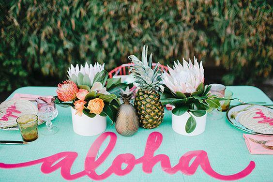 fiesta hawaiana 25 anos mujer