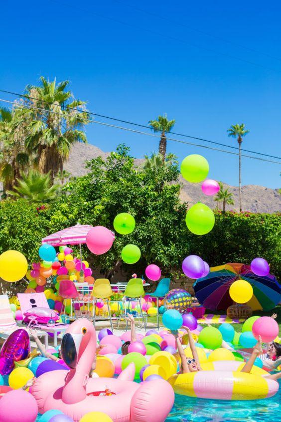 fiesta tematica alberca para adolescentes