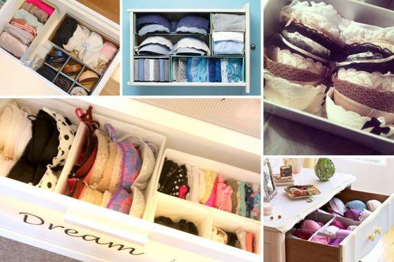 Formas originales de organizar tu ropa interior decoracion de interiores fachadas para casas - Organizar ropa interior ...