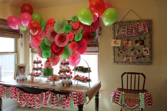 Ideas para decorar cumpleanos primer ano de nina en casa 2 como organizar la casa fachadas Decoracion cumpleanos nina