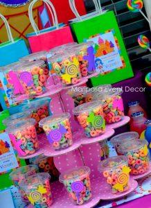 ideas para mesa de dulces para fiesta de nina un ano 4