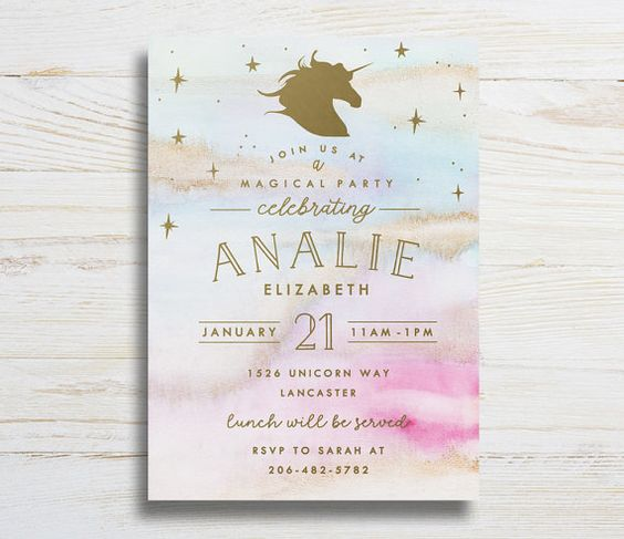 invitaciones de xv anos de unicornio (2)