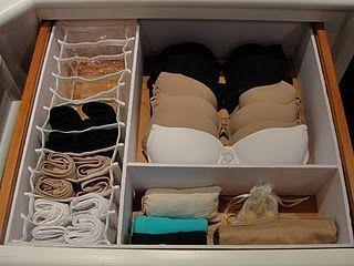 Organizador de medias y ropa interior - Organizar ropa interior ...