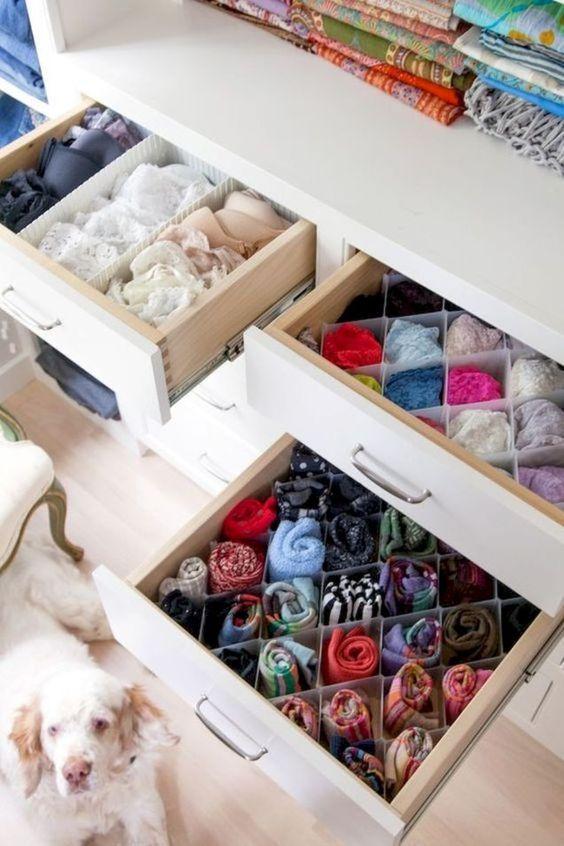 Organizador de medias y ropa interior - Organizador de ropa interior ...
