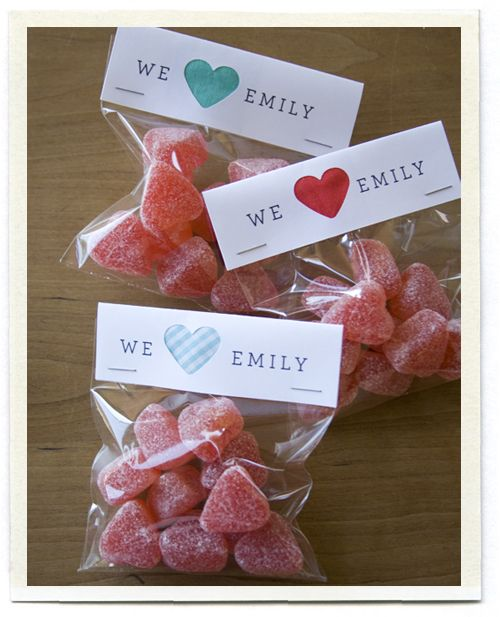 Recuerdos para baby shower con dulces