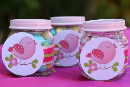 Recuerdos para baby shower con frascos de gerber
