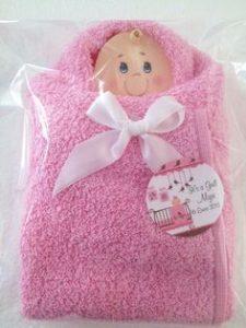 Recuerdos para baby shower con toallitas
