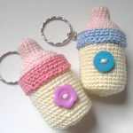 Recuerdos para baby shower tejidos