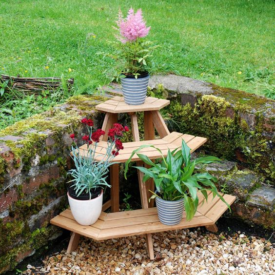 tipos de repisas para plantas exteriores (6)
