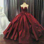 Vestidos de 15 años color vino
