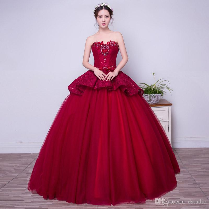 vestidos de 15 anos color vino (4)