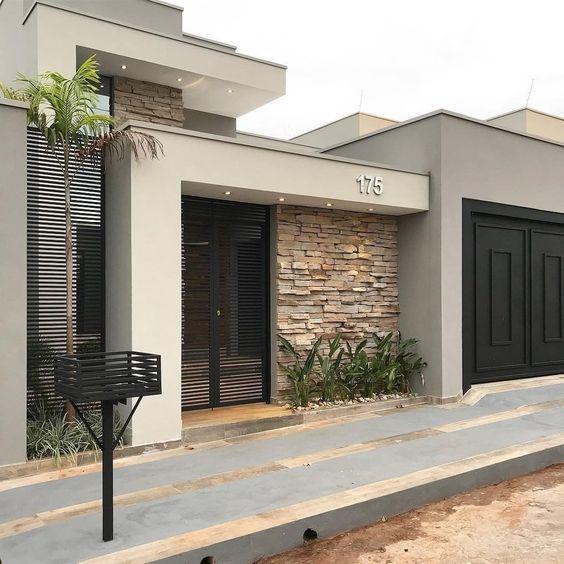 Acabados para paredes exteriores e interiores tendencias for Fachadas de casas modernas pequenas de infonavit