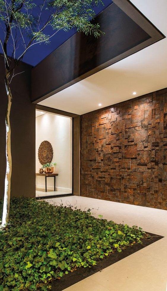 Acabados para paredes exteriores e interiores tendencias - Decoracion fachadas exteriores ...