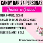 candy bar mesa de dulces 24 personas