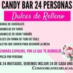 candy bar 24 personas dulces de relleno
