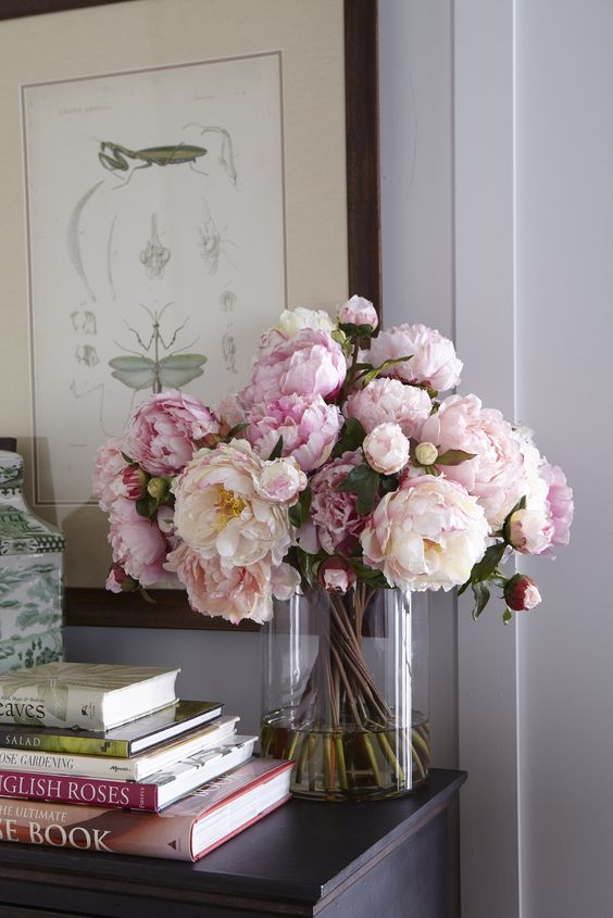 Centros de mesa jarrones con flores