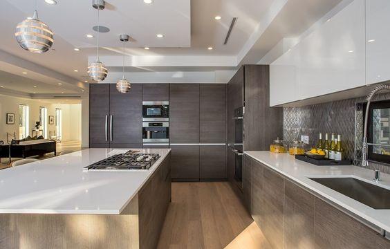 cocina americana con isla decoracion de interiores