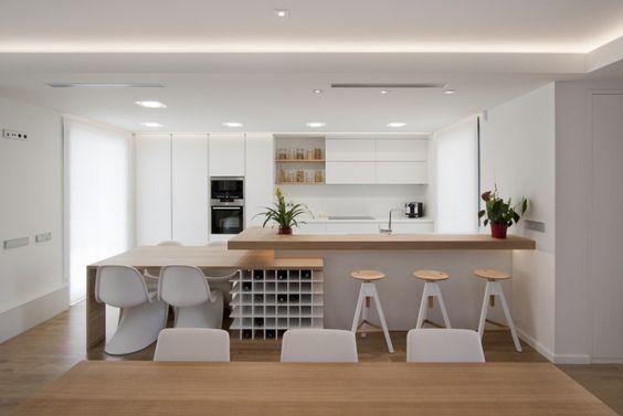 Cocina americana tendencias para transformar tu hogar for Separacion de muebles cocina comedor