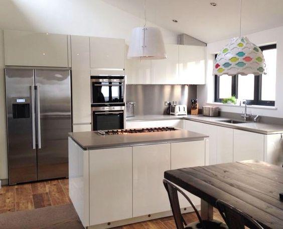 Cocina americana peque a decoracion de interiores for Cocinas exteriores pequenas