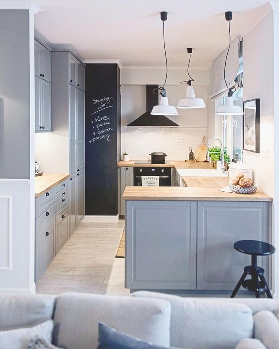 Ideas para peque as cocinas tendencias en decoraci n 2019 for Decoracion de interiores minimalista espacios pequenos