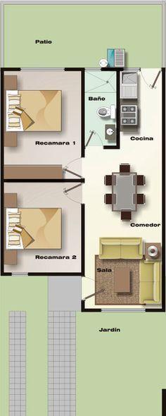 Como distribuir una casa rectangular