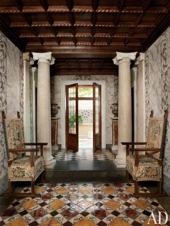 Decoración de interiores estilo barroca
