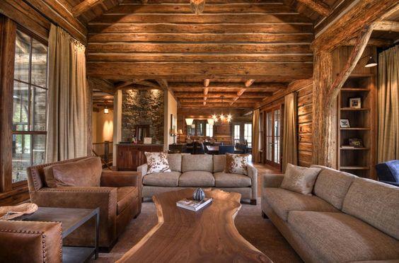 Como decorar la casa estilo r stico decoracion de interiores - Decoracion rustica moderna ...
