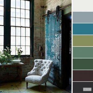 Estilo industrial paleta de colores