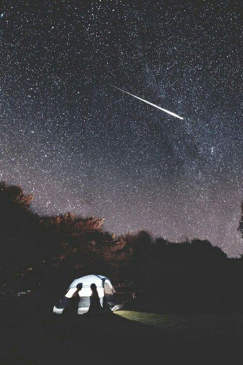 fotografia de noche estrellada