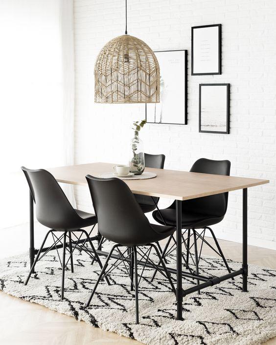 Como elegir la lampara para el comedor ideas de decoraci n - Lamparas minimalistas de techo ...