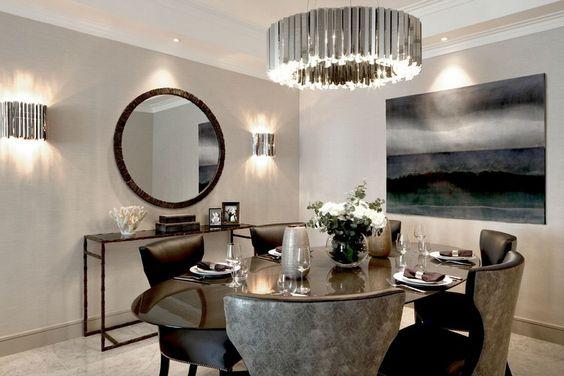 Lamparas Elegantes Para Comedor Decoracion De Interiores