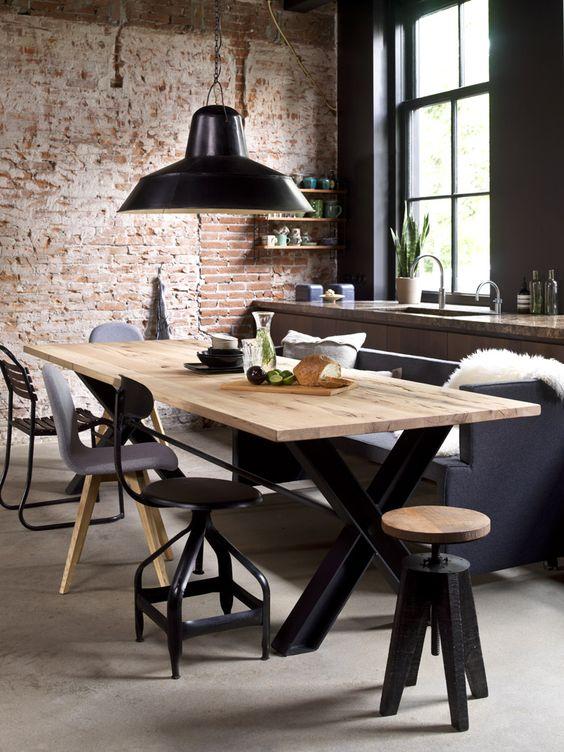 Como elegir la lampara para el comedor ideas de decoraci n - Lampara estilo industrial ...