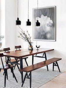 Lamparas minimalistas para comedor