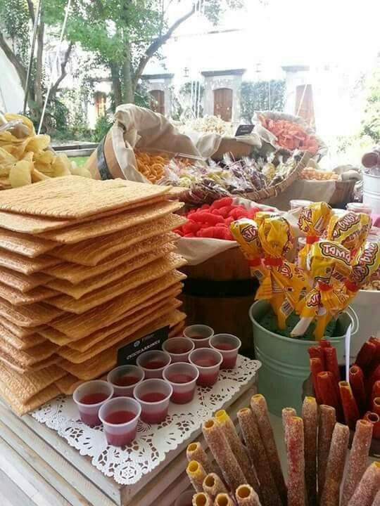 Cantidad exacta para montar la mesa de dulces