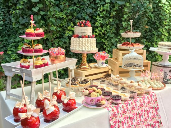 Cuantos dulces necesito para la mesa de dulces candy bar for Como decorar mesa de postres para baby shower