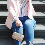 outfit de oficina para mujeres llenitas