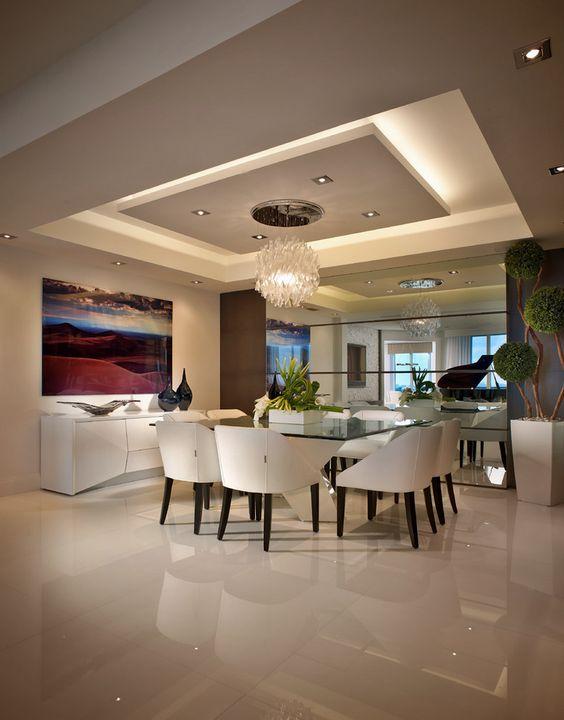 plafones de techo para comedor decoracion de interiores