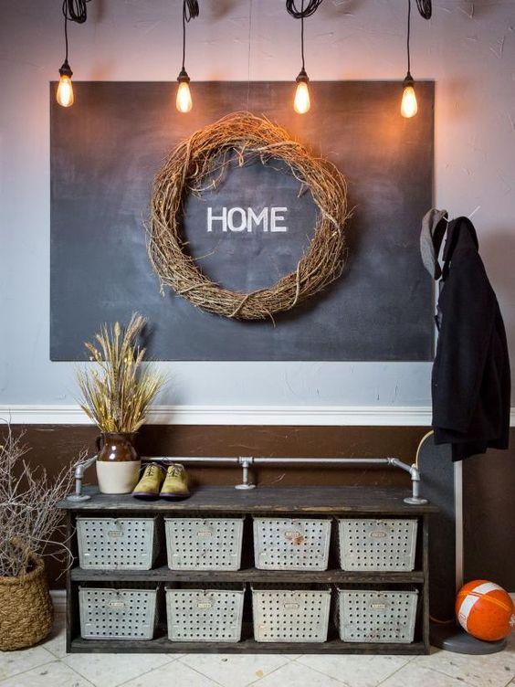 Como decorar la casa estilo industrial decoraci n de - Recibidor industrial ...