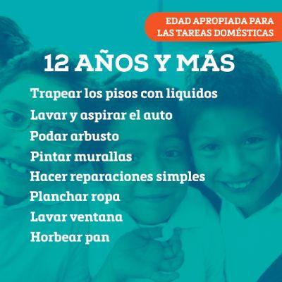 Responsabilidades de los niños segun su edad