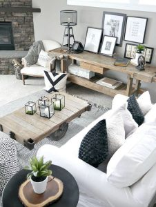 Sala estilo rustico