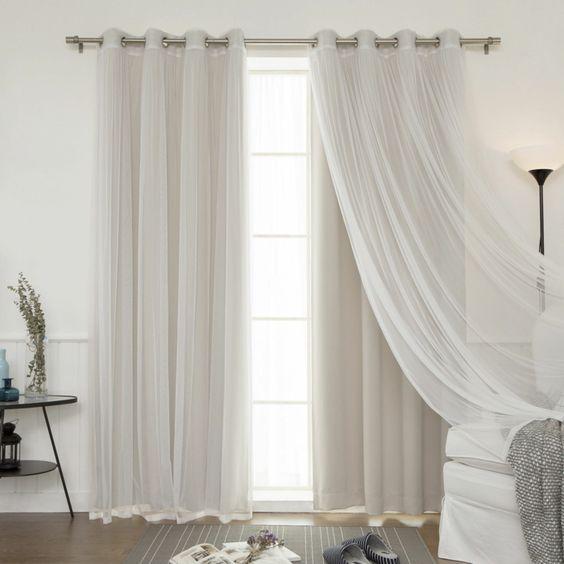 Colores de cortinas modernas | Decoracion de interiores Fachadas ...