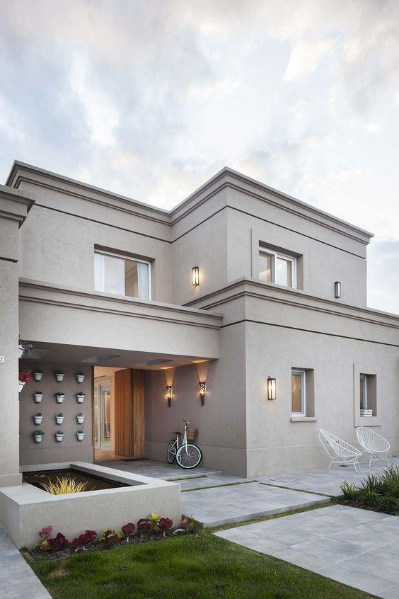 Colores para pintar fachadas de casas tendencias 2018 - Colores para pintar una casa por fuera ...