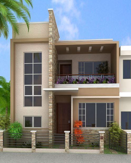 Colores para pintar fachadas de casas tendencias 2019 - Casas exteriores ...